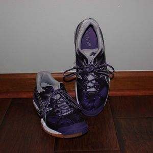Purple Asics Volleyball Shoes